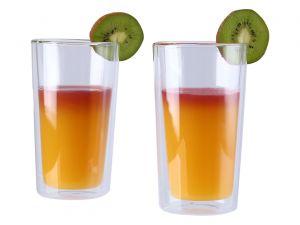 2 verres à cocktail double-paroi