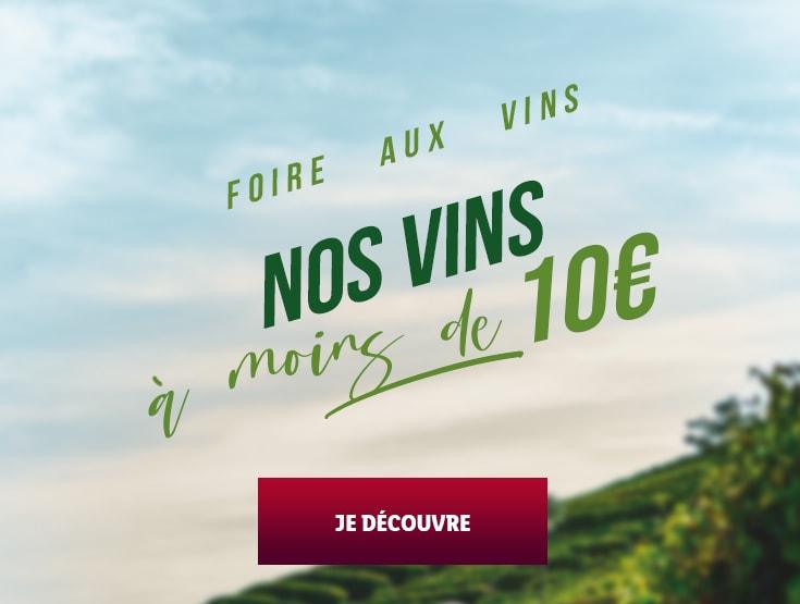 Les Vins à moins de 10€