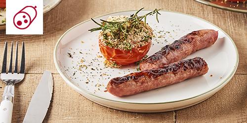 tomate provencale et chipolatas