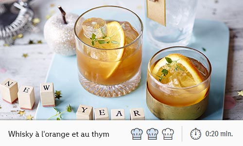 whisky orange thym