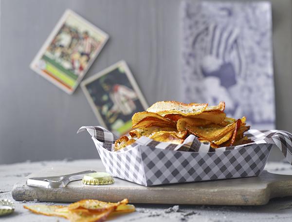 chips pommes de terre thym