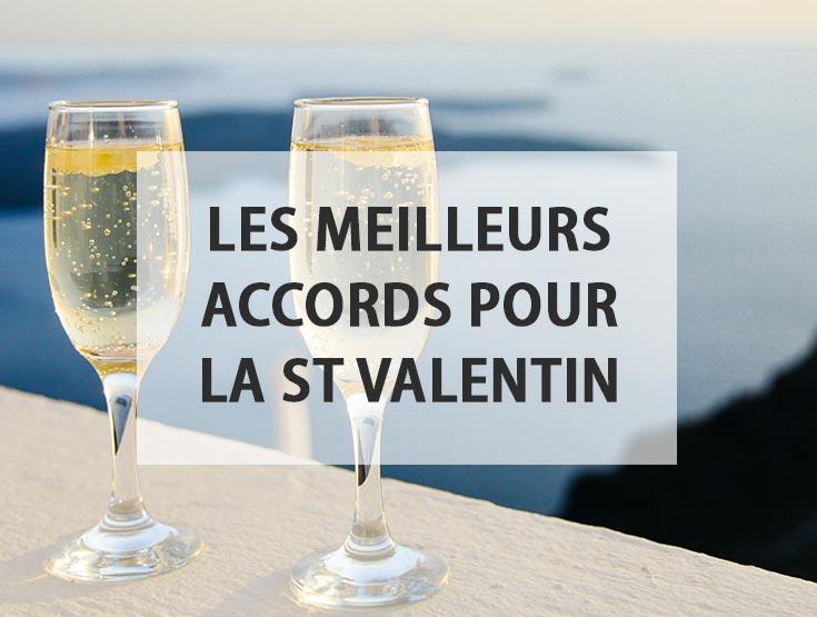 Les meilleurs accords met-vin de la Saint Valentin