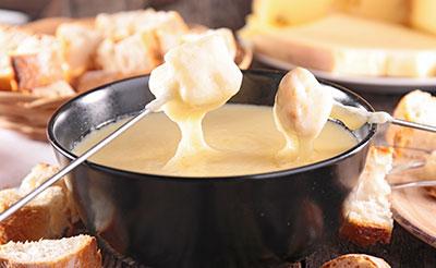 accords met et vin plat d'hiver et fondue