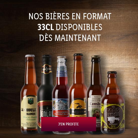 C'est nouveau, les Bières en 33cl !