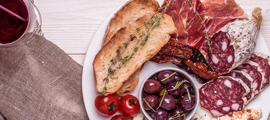 classique gastronomie italienne charcuterie