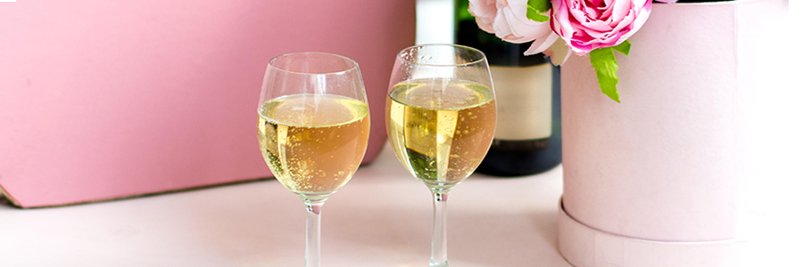 champagne fleurs saint valentin