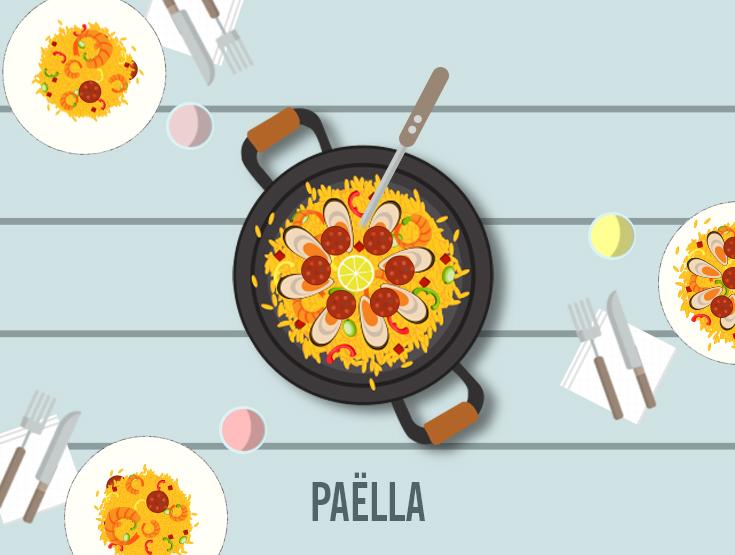 paella flat design