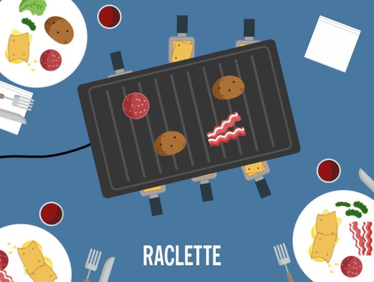 raclette flat design