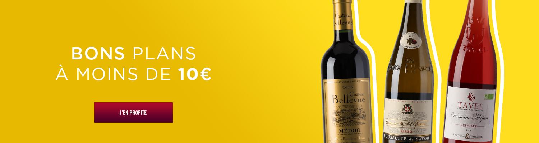 Vins bons plans -10€